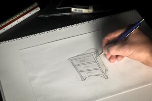 Sketched Custom made furniture Side Table