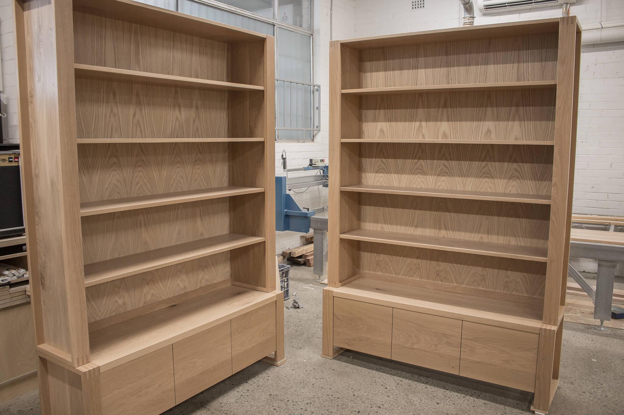 American White Oak Bookshelves Furniture Sydney