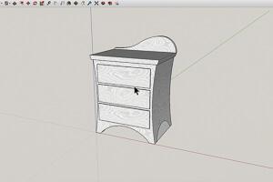 sketch up custom furniture side table